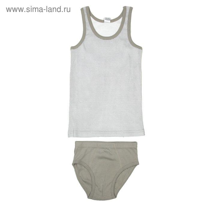 Комплект для мальчика (майка, трусы), рост 146 см (76), цвет серый (арт. CAJ 3299)