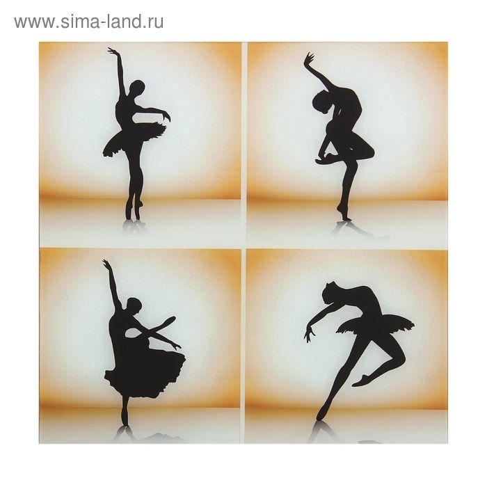 """Картина на стекле """"Моменты в танце"""""""