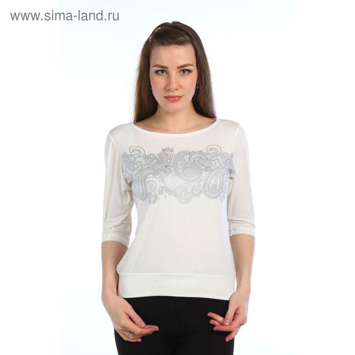 Блузка женская Амулет молоко, р-р 48