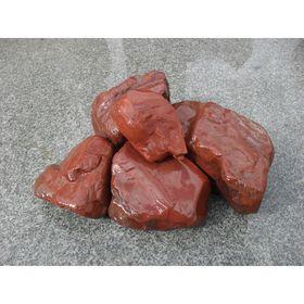 Камень для бани яшма сургучная окатанная 15 кг, ведро