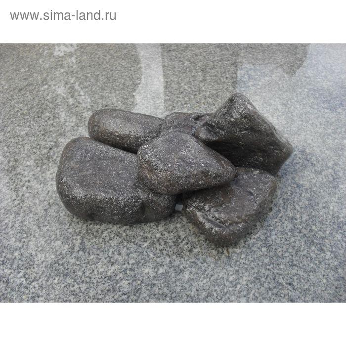 Камень для бани хромит окатанный 15 кг, ведро