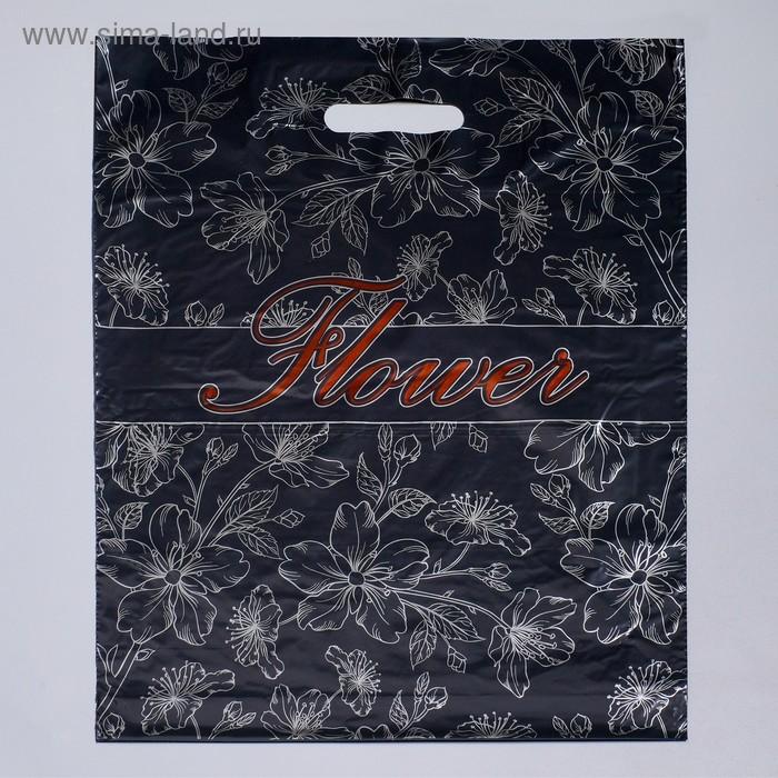 """Пакет """"Флористик"""", полиэтиленовый с вырубной ручкой, 38х48 см, 50 мкм"""