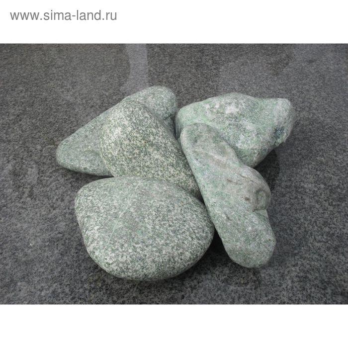 Камень для бани жадеит окатанный 15 кг, ведро