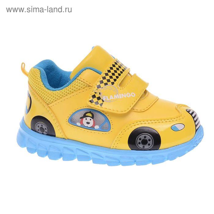 Кроссовки детские, размер 21, цвет жёлтый/голубой (арт. 61-NK104)