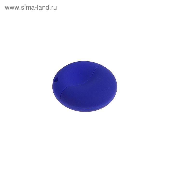 USB-флешка 8Gb, пластик, круглая, под УФ-печать, синий перламутр
