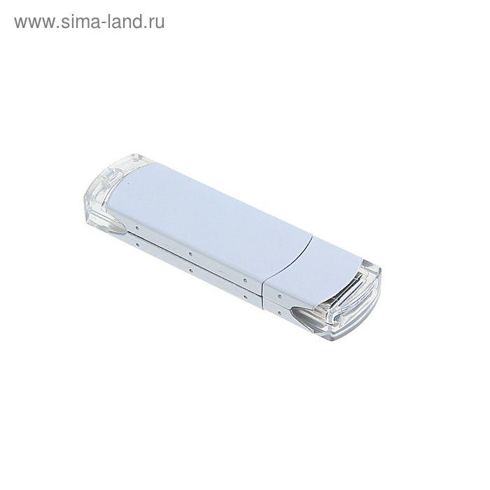 USB-флешка 8Gb, алюминий, под УФ-печать/лазерную гравировку/тампопечать, белая