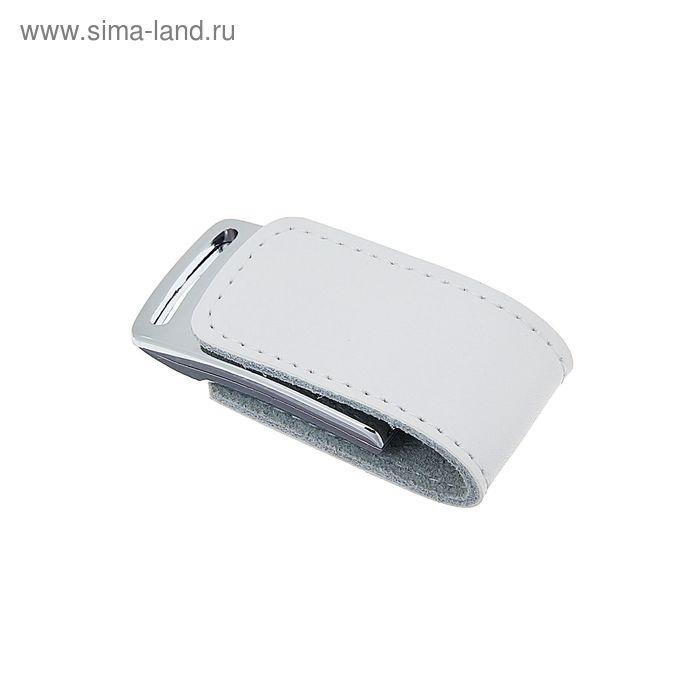 USB-флешка 8Gb, под лазерная гравировку/тампопечать, белая кожа