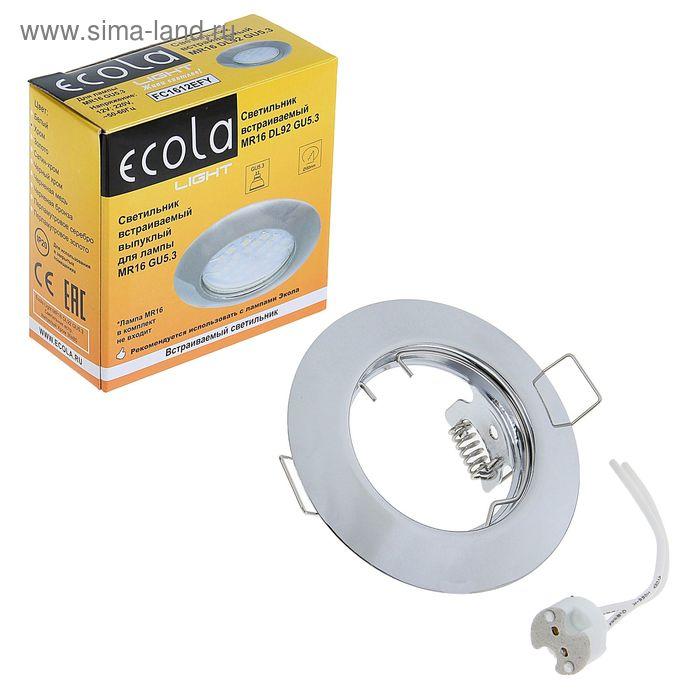 Светильник встраиваемый Ecola DL92, GU5.3, MR16, выпуклый, 30x80 мм, цвет хром