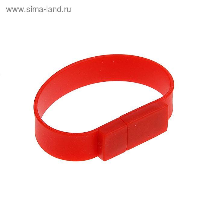 USB-флешка 8Gb, браслет из ПВХ, под шелкографию, красная