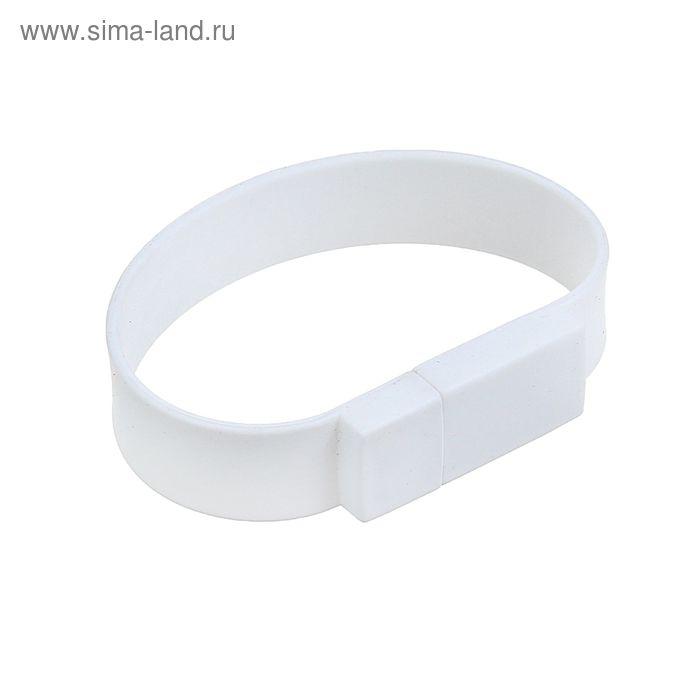 USB-флешка 8Gb, браслет из ПВХ, под шелкографию, белая