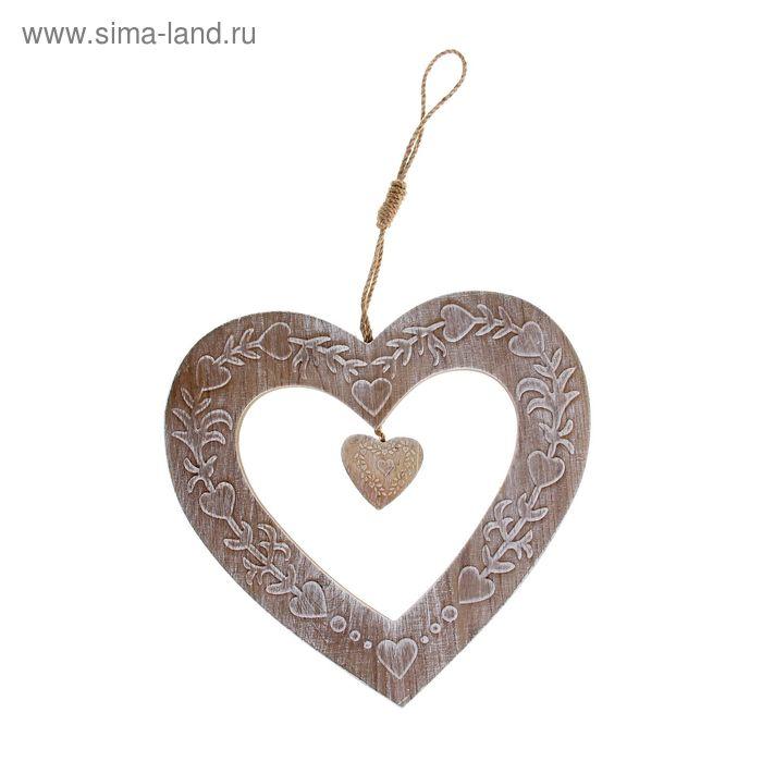 "Табличка декоративная ""Сердце"""