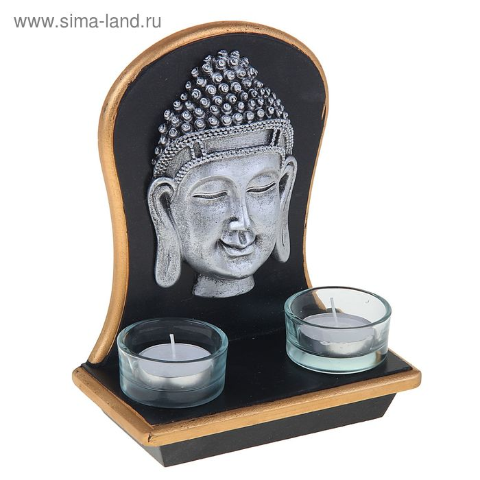 """Подсвечник 2 свечи """"Будда"""""""
