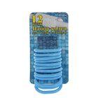 Набор пластиковых колец для штор в ванную, 12 шт, цвет голубой