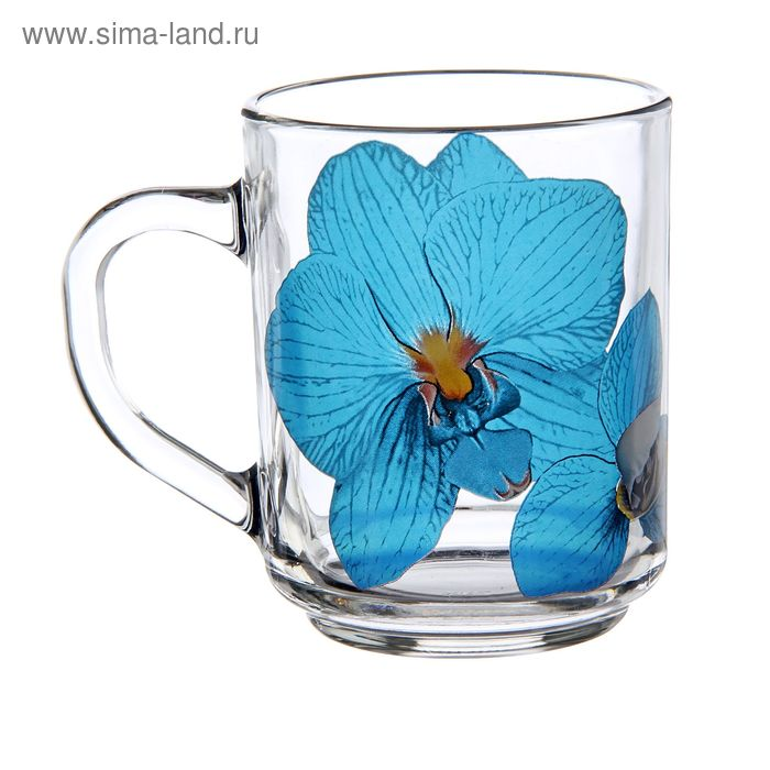 """Кружка 200 мл """"Орхидея синяя"""""""