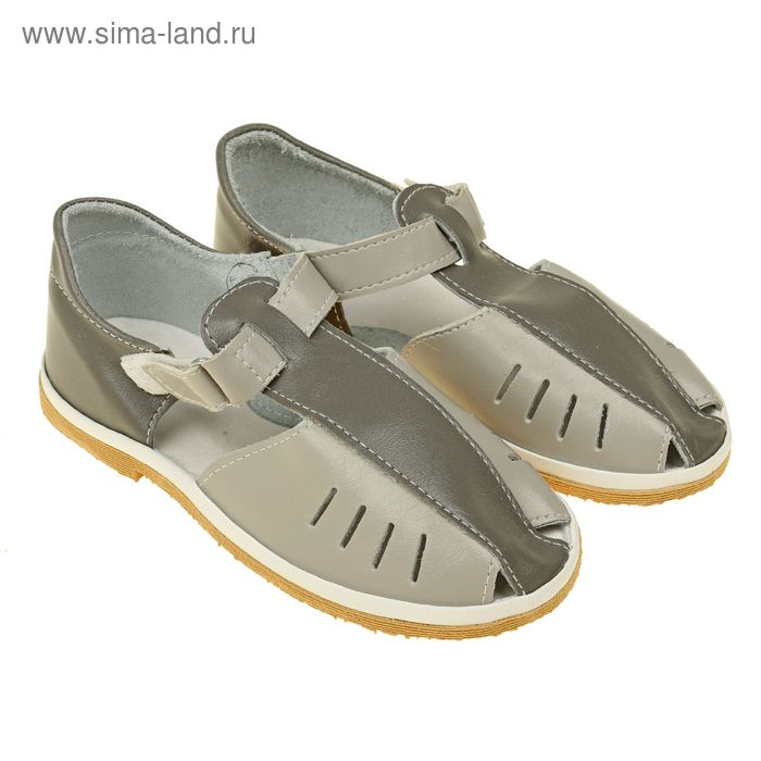 Туфли летние для мальчика на липучке микс (см. 18,5)
