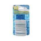 Набор пластиковых колец для штор в ванную, 12 шт, цвет серый