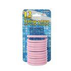Набор пластиковых колец для штор в ванную, 12 шт, цвет розовый