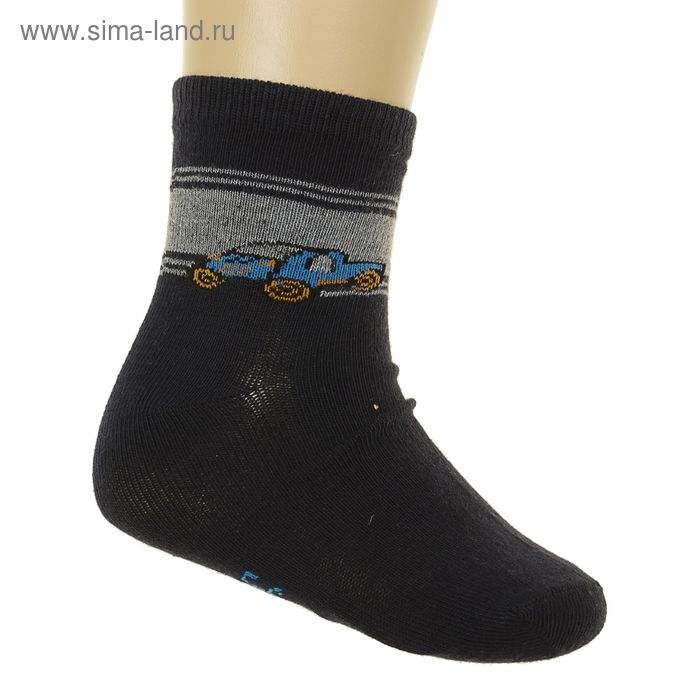 Носки детские, размер 12-14 (размер обуви 20-22), цвет синий GS-173