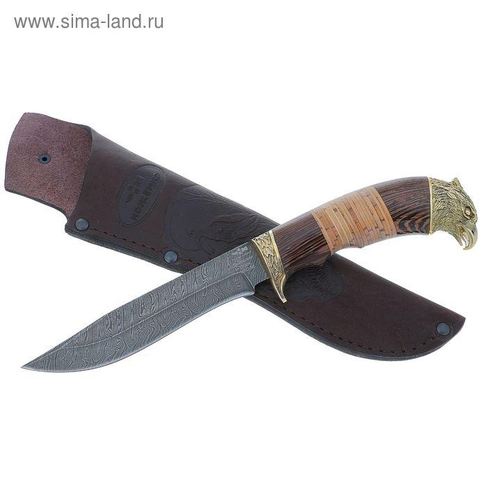 """Нож нескладной """"Гепард"""" (4192)д, рукоять-дерево, дамасская сталь"""