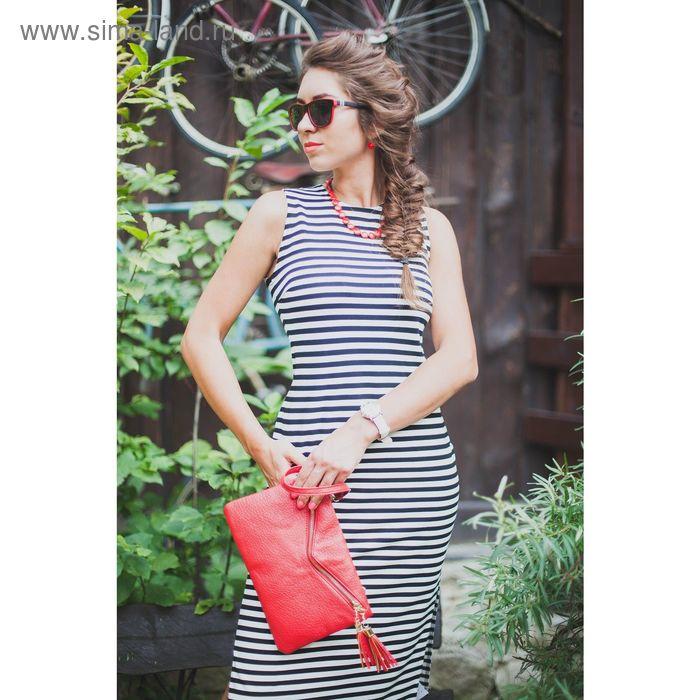 Платье женское, размер 46, рост 164 см, цвет чёрно-белый 4610