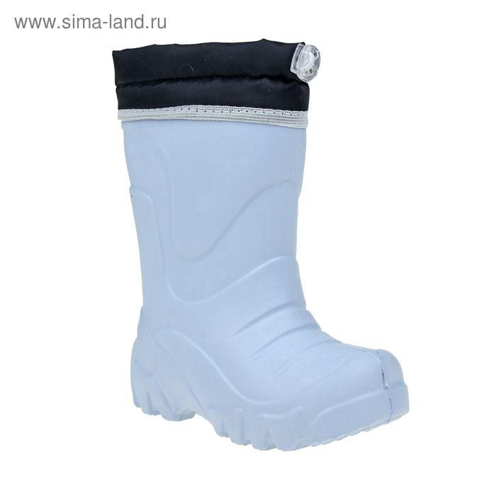 Сапоги подростковые ЭВА без утеплителя, высота 26 см, цвет голубой, размер 34/35 (арт. Д623-КН)