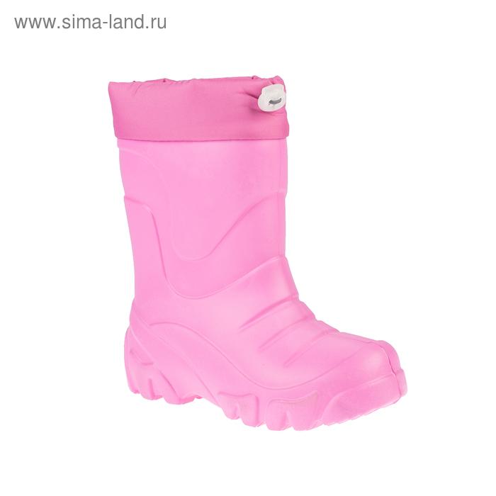 Сапоги подростковые ЭВА без утеплителя, высота 26 см, цвет малиновый, размер 31/32 (арт. Д623-КН)