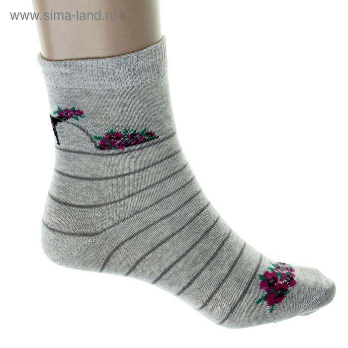 Носки детские, размер 22-24, светло-серый 4В456
