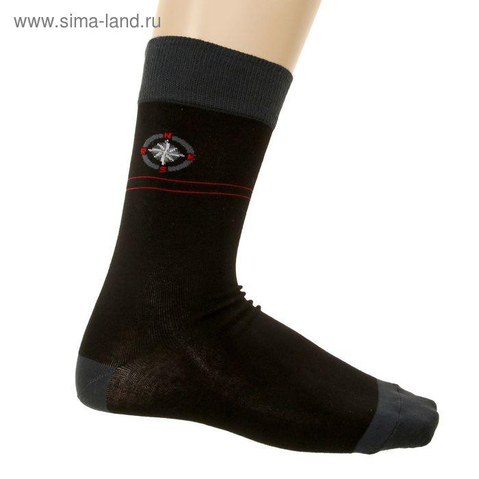 Носки мужские, размер 25-27 (разм.обуви 40-42), цвет черный 216
