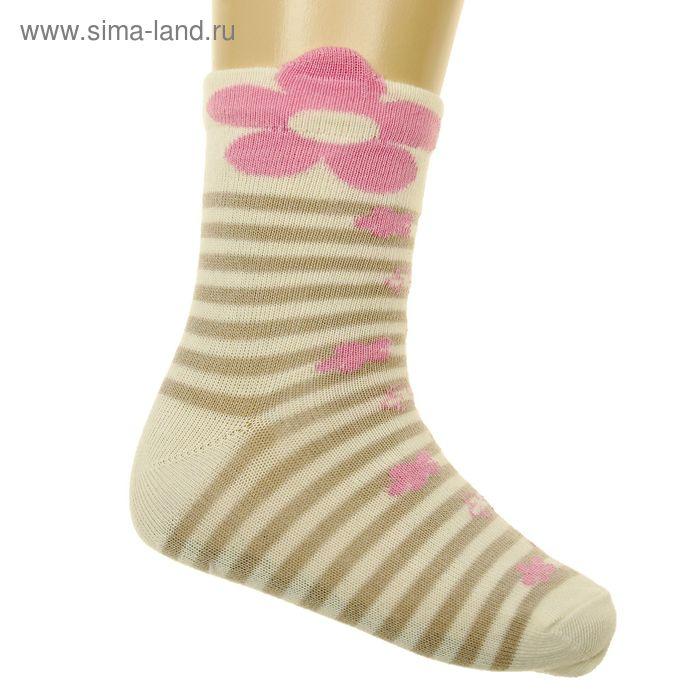 Носки детские, размер 16-18 (разм.обуви 26-28), цвет молочный 5В400