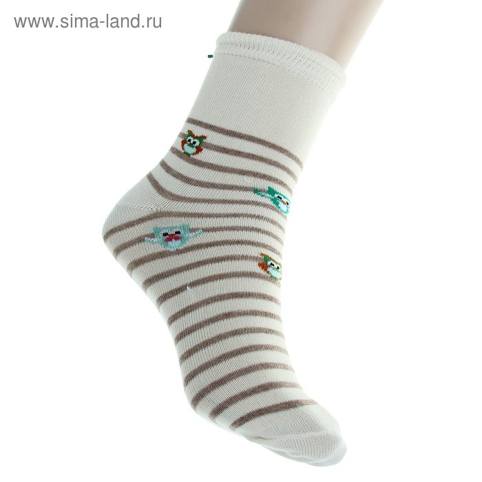 Носки детские, размер 18-20 (разм.обуви 29-31), цвет молочный 4В456