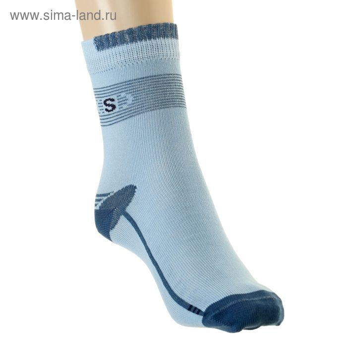 Носки детские, размер 18-20 (разм.обуви 29-31), цвет голубой 4В456