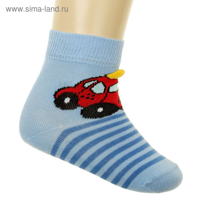 Носки детские, размер 8-10 (3-6 мес), цвет голубой 5В400