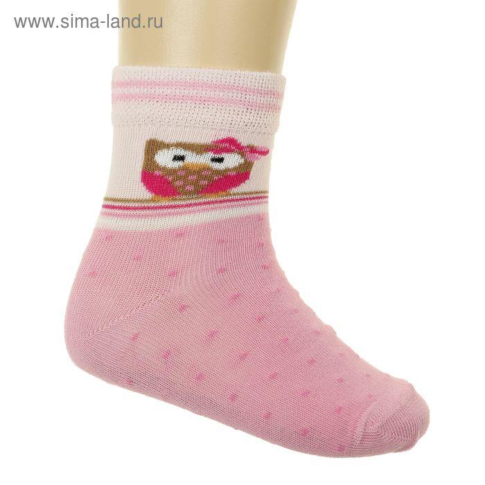 Носки детские арт.4В456, цвет розовый, р-р 16-18 (разм.обуви 26-28)