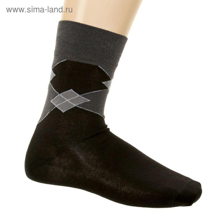 Носки мужские, размер 23-25 (разм.обуви 37-40), цвет черный 3В204