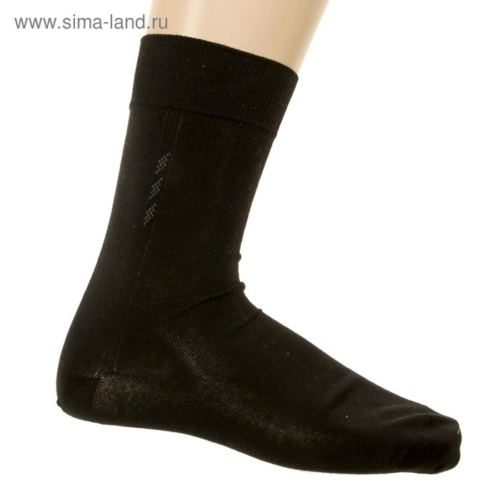 Носки мужские, размер 27-29 (разм.обуви 42-44), цвет черный 5В260