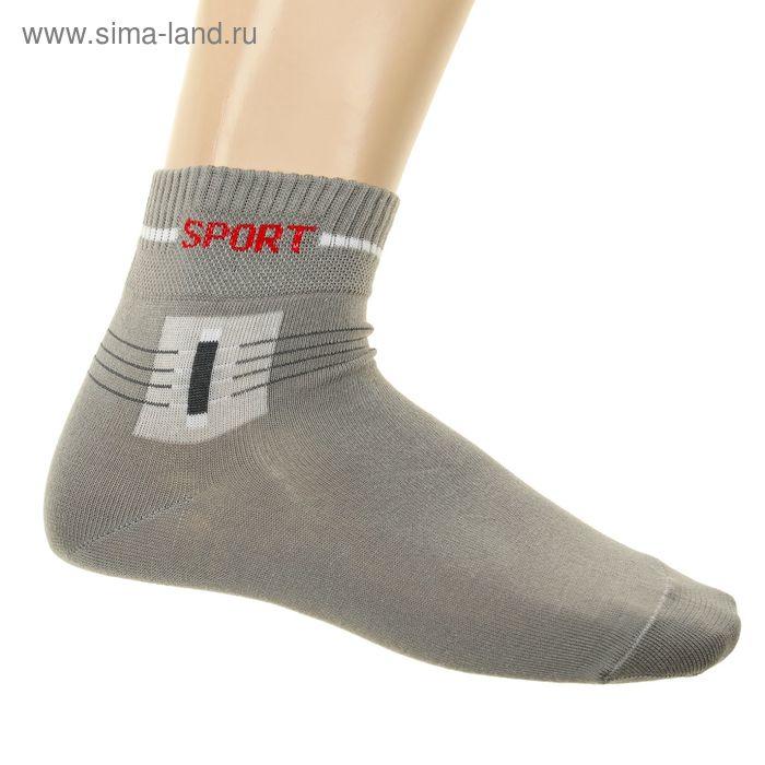 Носки мужские, размер 23-25 (разм.обуви 37-40), цвет серый 9В293