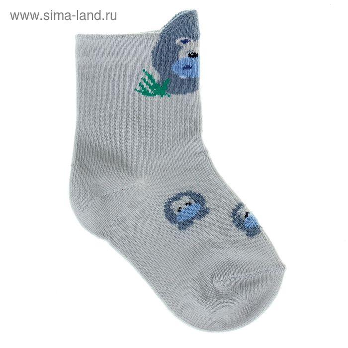Носки детские, размер 10-12 (разм.обуви 16-18), цвет светло-серый 5В400