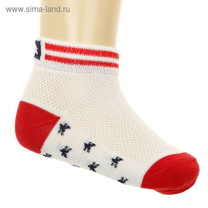 Носки детские арт.6В431, цвет белый, р-р 16 (разм.обуви 22-24)