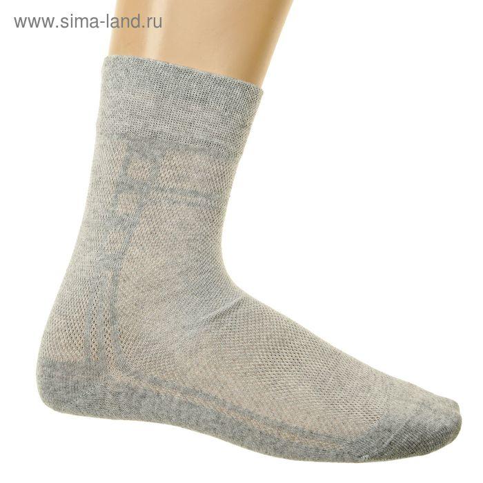 Носки мужские, размер 27 (разм.обуви 41-42), цвет светло-серый 3В224