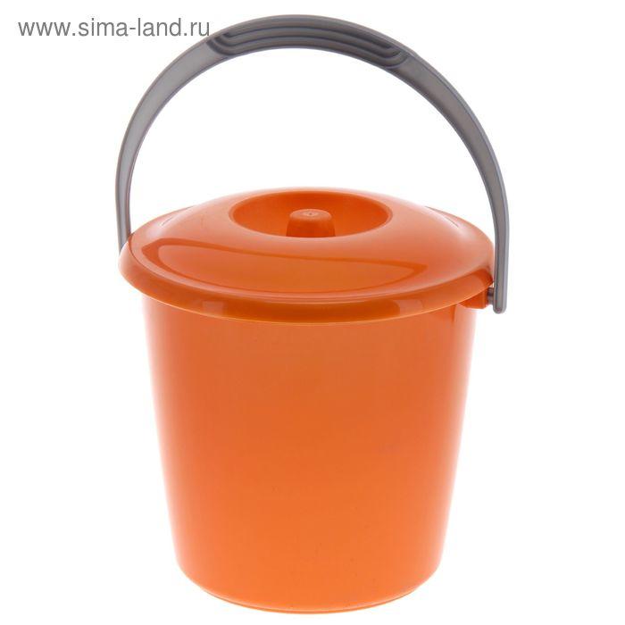 """Ведро с крышкой 3 л """"Соло"""", цвет оранжевый перламутр"""