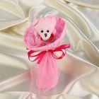 """Букет из игрушек """"Мишка-малышка"""" розовый"""