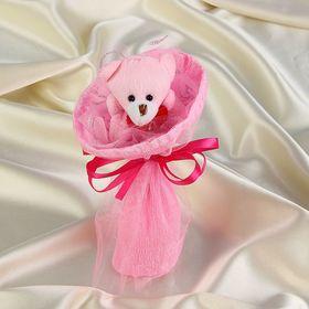 Букет из игрушек 'Мишка-малышка' розовый Ош