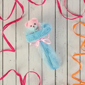 Букет из игрушек 'Мишка-малышка' голубой Ош