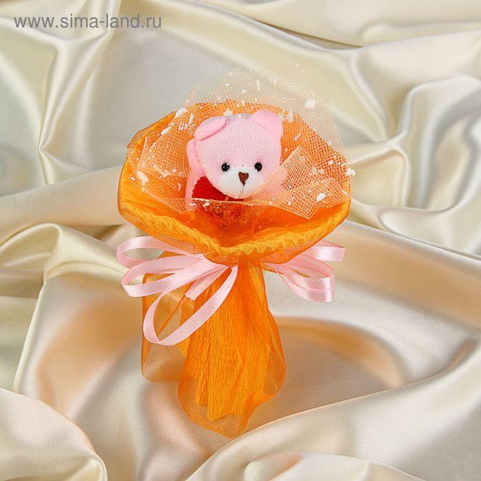 """Букет из игрушек """"Мишка-малышка"""" оранжевый"""