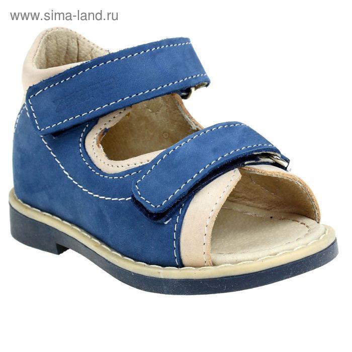 Туфли открытые малодетские Зебра, арт. 10468-5 (синий) (р. 20)