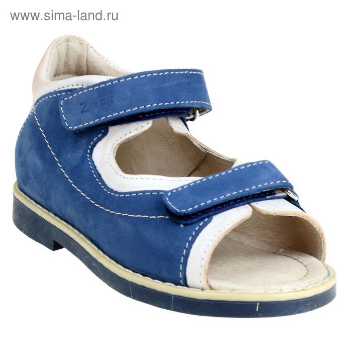 Туфли открытые дошкольные Зебра, арт. 10703-5 (синий) (р. 26)
