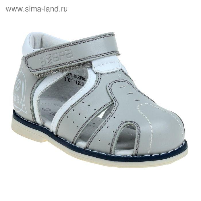Туфли открытые малодетские Зебра, арт. 10575-10 (серый) (р. 23)