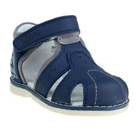Туфли открытые малодетские Зебра, арт. 10576-5 (синий) (р. 21)