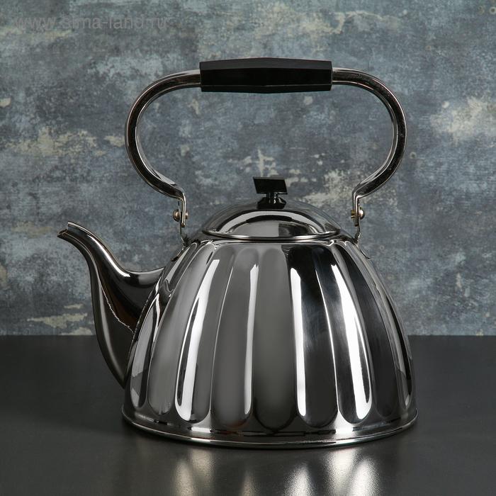 """Чайник 3,5 л """"Граненный"""", никелированный"""
