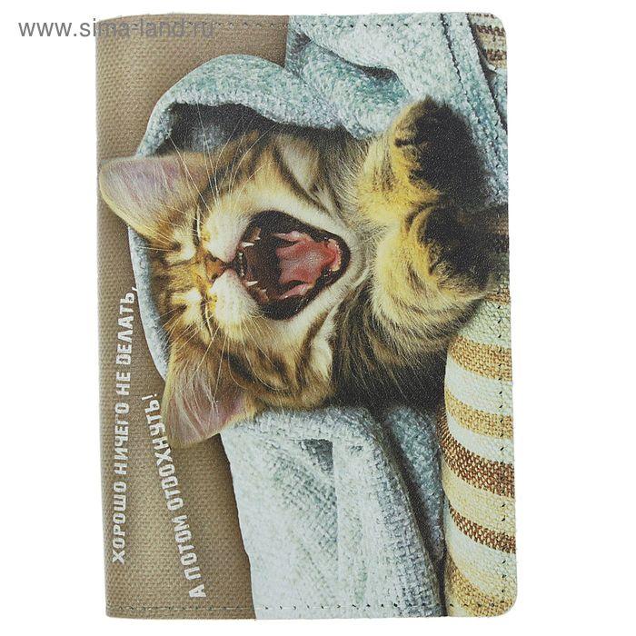 """Обложка для паспорта """"Котёнок"""", фотопечать"""